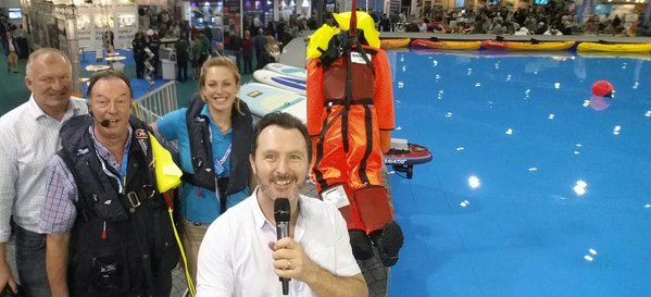 MOB lifesavers at london boat show