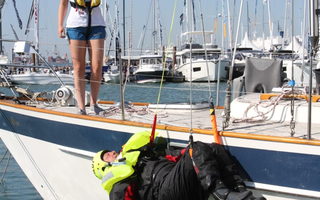 Southampton Boat Show Live MOB retrievals.